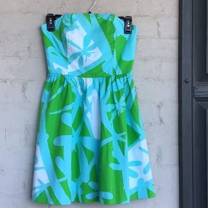 Lilly Pulitzer cotton sateen strapless dress